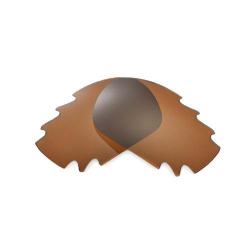 Walleva Ersatz belüftete Linsen für Oakley Jawbone Sonnenbrille - Mehrfache Optionen (Braun - polarisiert)