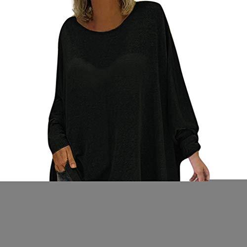 c48f99587a Böhmen Blusen Chemisier bohème pour femme à manches longues, XL, Noir, 1