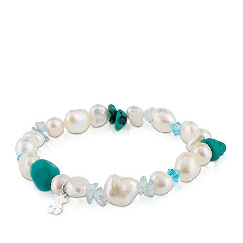 TOUS Pearls - Pulsera de Plata de Primera Ley...