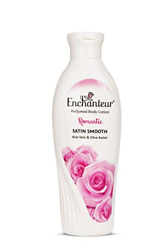 Enchanteur Romantic Perfumed Body Lotion,Romantic Satin Smooth Aloe Vera and Olive Butter 250ml