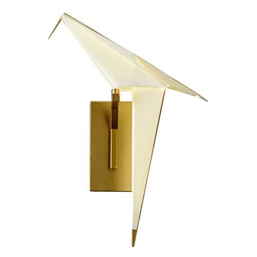 TOMSSL Moderne Einfache Einzelkopf Wandleuchte Wohnzimmer Thema Restaurant Freizeit Bar Personalisierte Schlafzimmer Vogel Vogel Papier Wandleuchte Origami Kreative Leuchte (Größe: 16,5 cm) Innenbeleu -