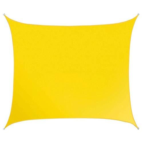 SOULOS Garten Wasserdicht Sonnensegel, Windschutz Sonnenschutz Atmungsaktiv 95% Abschattungsrate Unisex Grillplatz Innenhof 2x3m(6.5x10ft) Gelb Rechteck Sonnensegel Baldachin,2x5
