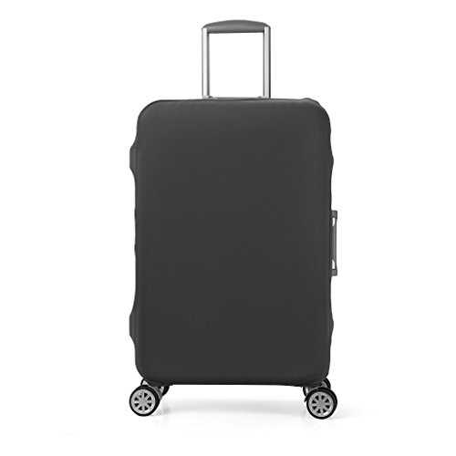 Elastico Cover Proteggi Valigia, Copri Valigia Anti-Polvere Copertura Per Valigia Elastico Tessuto proteggi valigie, grigio scuro (L)