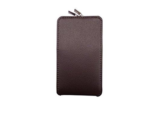 ATV PU Leather DARK BROWN Pouch Case Flip Cover For Xiaomi Redmi Note 3