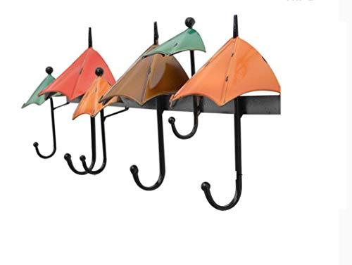 (MOOMDDY Haken Wand Hängend Mediterranen Stil Schmiedeeiserne Regenschirm Form Dekoration Hängende Mantel Haken Haken Kreative Veranda Einbauraum Dekoration)