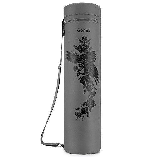 Gonex Yogatasche, Yogamatte Tasche Durchgehender Reißverschluss für robuste wasserdichte Yogamatten-Tragetasche mit verstellbarem Schultergurt