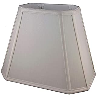 American Pride Lampshade Co. 74-78093212 Rectangle Soft Tailored Lampshade, Shantung, Croissant
