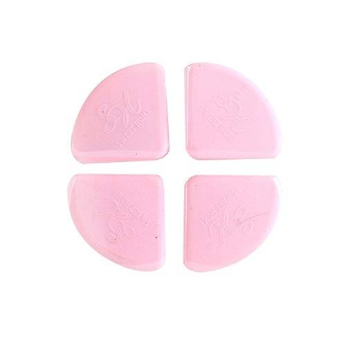QWERBAN 4pcs Babysicherheits Ecke Silikon Baby Eckenschützer Kinder Möbel Schutzecken Tischkantenschutz Sicherheitsschutz (Color : Pink) -