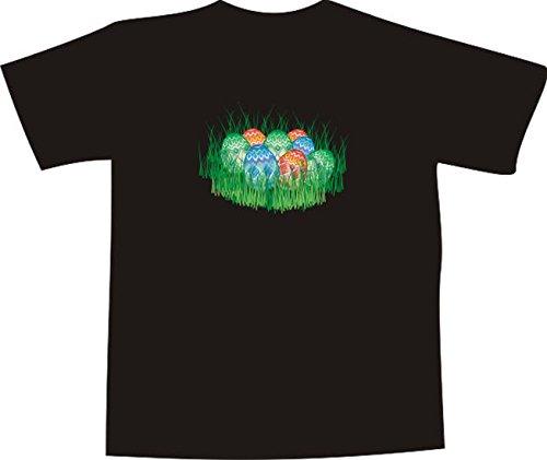 Black Dragon - T-Shirt E142 - Farbe nach Wahl - Größe XXL - Logo/Grafik - bunt bemalte Ostereier im Gras - Funshirt Mann Frau Party Fasching Geschenk Arbeit - bedruckt