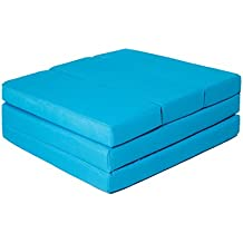 """ZOLLNER® Cómodo colchón plegable / cama para invitados / colchón supletorio / colchoneta plegable, 65x220 cm, turquesa, en varios colores, del especislista textil para hostelería, serie """"Soma"""""""