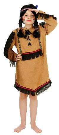 Kleid : Indianerin Comanche, (Kostüme Comanche)