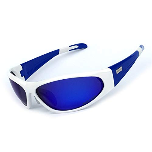 LBWNB Sport-Sonnenbrille-Outdoor Men es Women es Cycling Sonnenbrille Reflective PC Explosion-Proof Sonnenbrille,Blue
