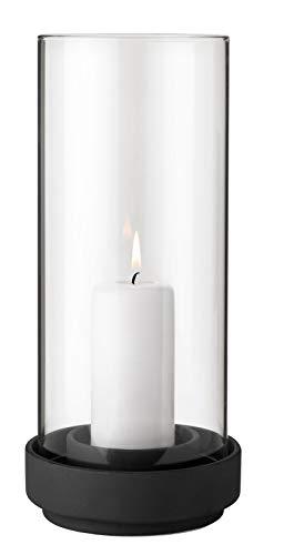 Stelton - Windlicht - Kerzenhalter - Hurricane - Glas - Steinzeug - Ø 13,5 - Höhe 29 cm (Kerzen Glas-hurricane Für)