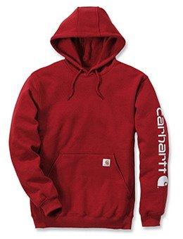Midweight Signature Sleeve Logo Hooded Sweatshirt - Farbe: Dark Crimson - Größe: M -