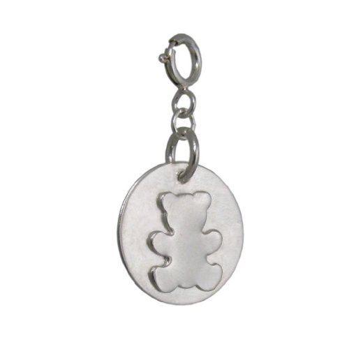 Silver Teddy Bear Charm | Handmade 925 Sterling for Children | FREE Delivery UK Gift Wrapped Gifts