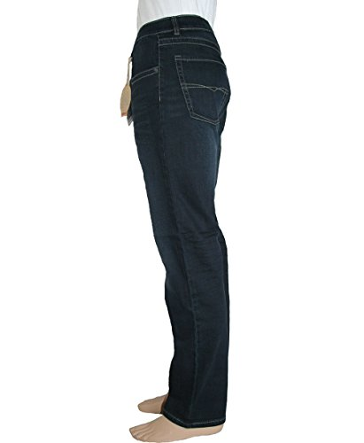 Paddock`s Herren Jeans Carter - Regular Fit - Blau - Blue Black Stone Used dark blue stone used moustache