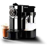 FIORELLA Cafetera NPG NP-150B Compatible con Sistema Nespresso con Jarra espumadora de Leche + 10 capsulas Regalo