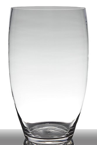 INNA Glas Bodenvase Glas Henry, Trichter/rund, klar, 46cm, Ø26cm - Tischvase/Deko Glas
