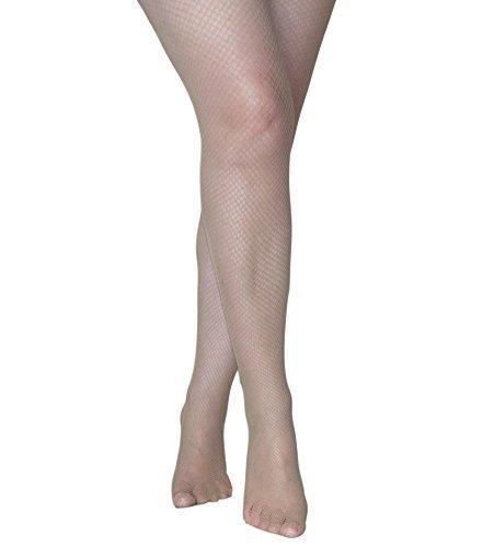 1 Coppia Essexee Legs Taglie Forti naturale A rete collant. Dimensioni: L XL XXL XXXL. Fuller figure naturale calze a rete