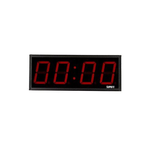 Suprfit Tilrun 4 Intervall Timer I Sporttimer I Fitness Timer I LED Display I Vier Ziffernfelder I 5 Zeit-Modi I 12 Speicherplätze I Signalton I zur Wandmontage geeignet