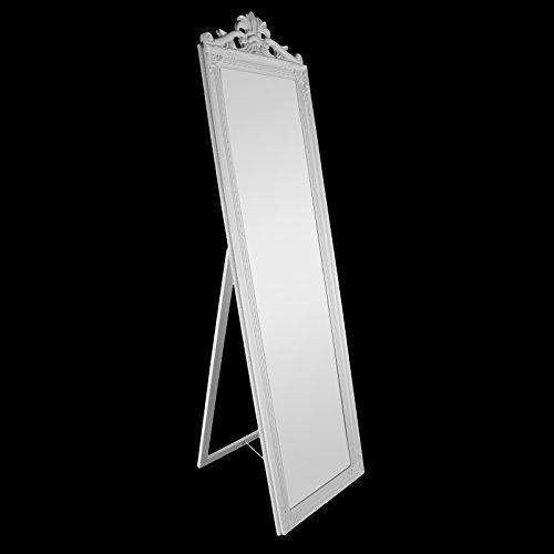 DRULINE Standspiegel Barock Krone Ankleidespiegel Spiegel Garderobenspiegel 170 x 40 cm