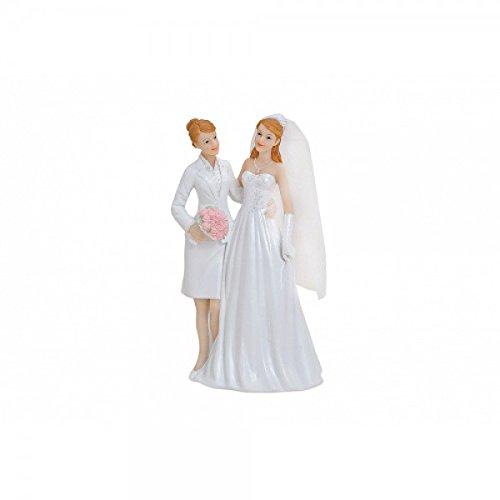 Brautpaar, Hochzeitspaar | Tortenaufsatz, Tortenfigur, Dekofigur 17 cm | Frauenpaar Frauenbrautpaar