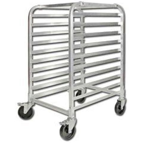 10 Full-Size Mobile Bun Pan Rack by Winco