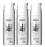L'Oréal Fix Design 3x 200ml cheveux Spray Tecni. art Styling Spray sans gaz propuleseurs nouvelle série