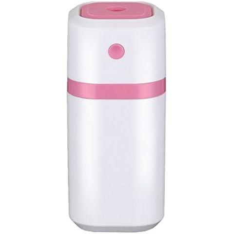 Lampada umidificatore della foschia Xagoo 200ml caricabatterie USB filtro ad ultrasuoni con diffusore portatile (rosa)