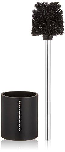 Wenko 18718678 WC-Garnitur Diamond Schwarz - WC-Bürstenhalter, mit Strass-Steinen, Polyresin, 9.7 x 37.5 x 9.7 cm, Schwarz