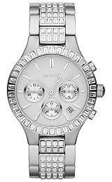 DKNY Glitz Silver-Tone Dial Women's Watch #NY8315