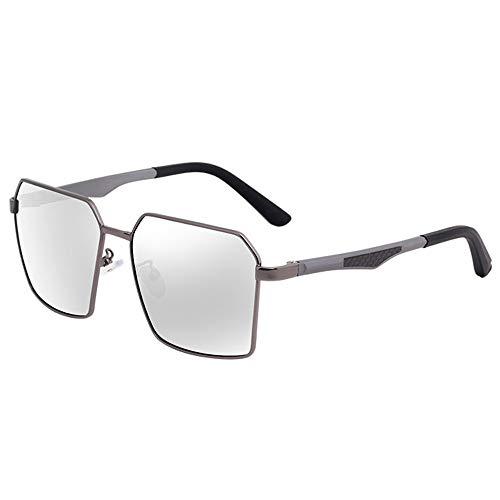 Tag Und Nacht Polarisierte Gläser Mit Doppeltem Verwendungszweck, Die Sonnenbrillen Fahren (Color : Gun Frame Color Film)