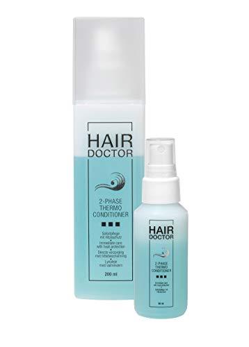 Hair Doctor 2-Phase Thermo Professioneller Haarconditioner, Anti-Frizz und Hitzeschutz schützend mit Papaya Extrakt 200ml + Gratis Reisegröße 50ml