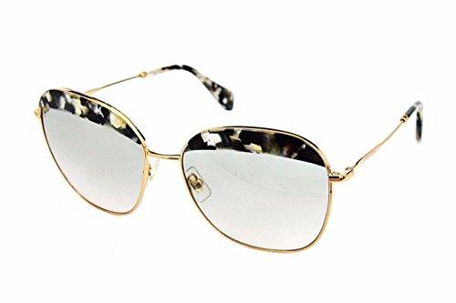 Miu Miu Damen Sonnenbrille MU53QS, Braun (Havana Marble White Black DHE3H2), One size (Herstellergröße: 59) (Miu Beige Sonnenbrille Miu)