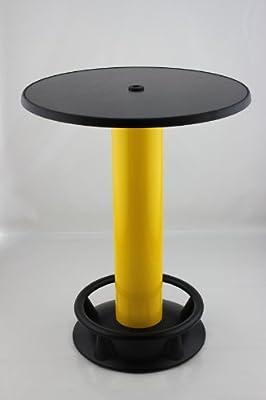 Stehtisch Quick Table schwarz gelb, Stehbiertisch, Bistrotisch