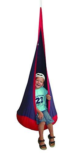 roba Hängesack 'rot blau', Kinder Hängesitz / Hängehöhle / Hängesessel / Sitzsack fürs Kinderzimmer oder draußen