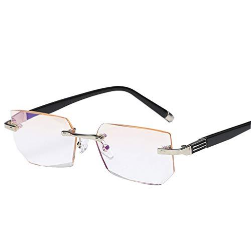 Unbekannt Rahmenlose HD-Anti-Blue-Lesebrille, Geschäftsleute und Frauenbrille (größe : +2.5)