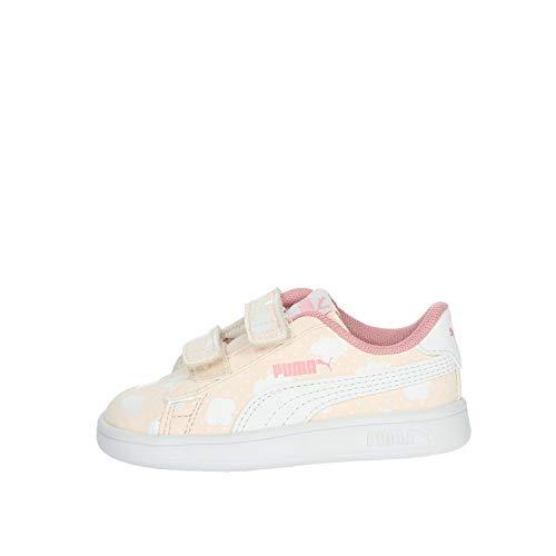 PUMA Niñas Smash V2 Cloud V Inf Zapatillas, Rosa (Pink Rosewater/Peony White 01), 27 EU