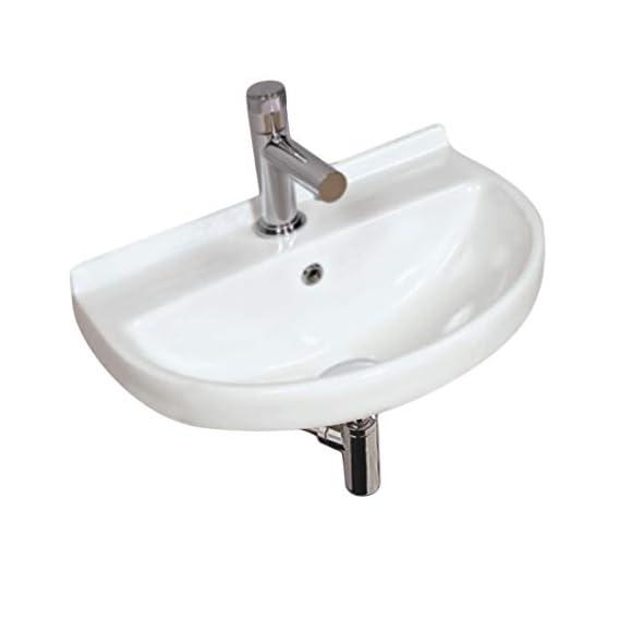 Mozio Ceramic Table Top Wall Hung Basin Enzo (White)