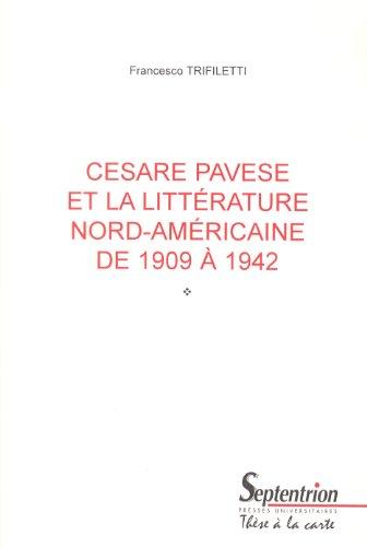 Cesare Pavese et la littérature nord-américaine de