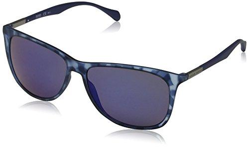 BOSS Hugo Herren 0823/S XT YX2 Sonnenbrille, Blau (Bluette Havana/Blue Sky Grey Speckled), 58