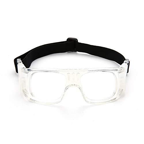 Neue Männer und Frauen Anti-Fog-Outdoor-Sport-Brille kann mit Myopie Fußball Brille Rahmen Basketball ausgestattet Werden Brille (Color : White)