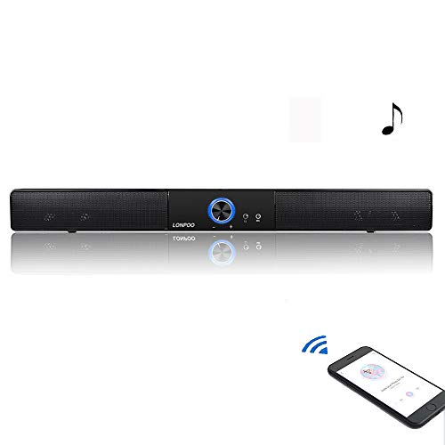 LONPOO PC Barra Sonido 10W Altavoces estéreo Salida