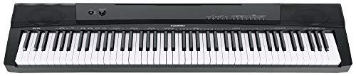 McGrey BS-88 Keyboard - Einsteiger-Keyboard in Stagepiano-Optik mit 88 Tasten - 146 Klänge - Split-, Dual- und Twinova-Funktion - inklusive Sustain-Pedal - schwarz