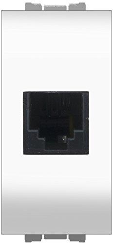 FEB 14084/WH Presa Telefonica Rj11 Plug 6/4, Bianco