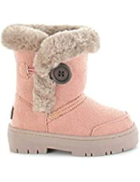 73ba7b8ccc47 Girls Kids Winter Boot Comfortable Faux Fur Lined Size 4 5 6 7 8 9 10 11 12  13 1…
