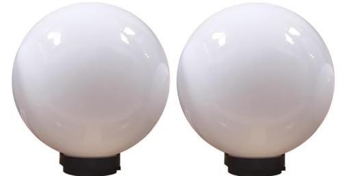 Kugelleuchte Kugellampe Gartenlampe Lampe Leuchte Sockellampe 2er Set 2 x 40 cm