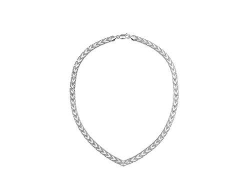 """Nini Jewels, collana donna in Argento 925 chiamato """"Riccio""""; design innovativo con una diamantatura brillante ed elegante. Gioiello artigianale, Made in Italy"""