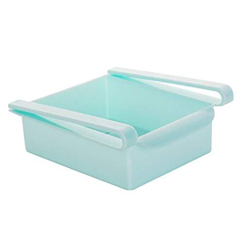 Busirde Kühlschrank Ausziehbare Speicherfächer Organizer Space Saver Food Storage Box Kühlschrank Rack-Shelf-Halter (Kühlschrank Box Kostüm)