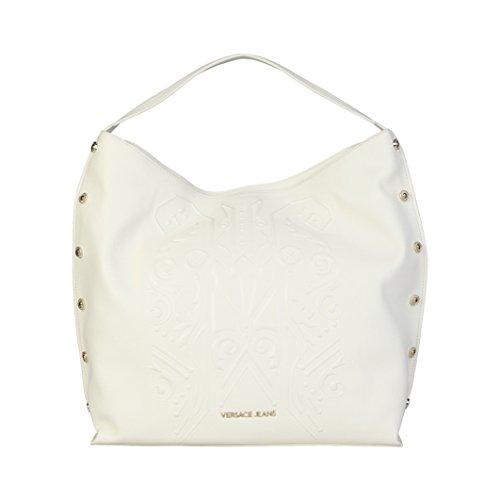 Versace Jeans Borsa Donna f Dis8 Grana debbosed Bianca ... 965f553ce63